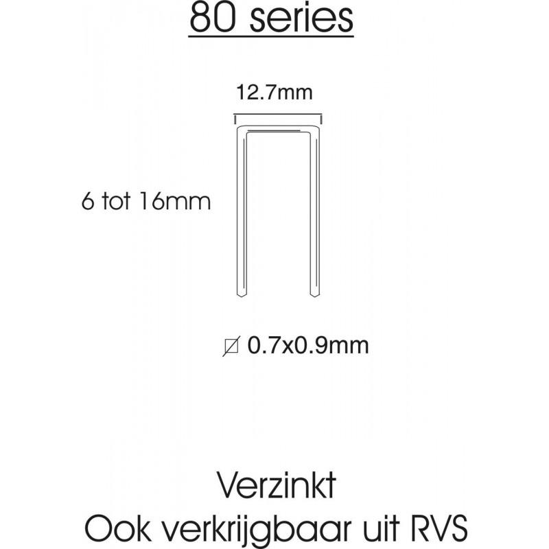80-serie nieten 6mm gegalvaniseerd (8006) 10.000st.