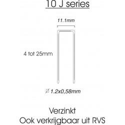 10-serie nieten 10mm gegalvaniseerd (1010J) 5.000st.